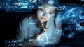 インターフェース 女性 テクノロジーの動画 52458841