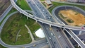 Aerial view of a freeway intersection traffic 52968273