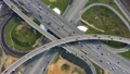Aerial view of a freeway intersection traffic  52968277