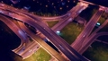 Night Aerial view of a freeway intersection 52968278