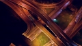 Night Aerial view of a freeway intersection 52968280