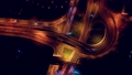 Night Aerial view of a freeway intersection 52968282