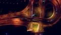 Night Aerial view of a freeway intersection  52968283