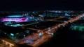 Night Aerial view of a freeway intersection  52968289