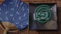 Summer's typical feature Mosquito coil incense and fan Evening cool scenery 53010579