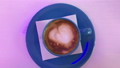 Hot cappuccino on the table. 53144590