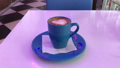 Hot cappuccino on the table. 53144591