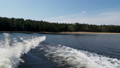 Water waves from a motor boat . Seliger lake, Russia. 53201399