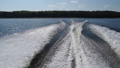 Water waves from a motor boat . Seliger lake, Russia. 53201411