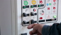 Close-up of the control panel of the paint room at the service station. 53231468