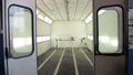 Car body and paint room. Spray paint cabinet in a car repair station. 53231469