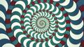 サイケデリックな幾何学模様の渦 ループ 53234674