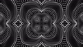 black and white animated pattern. Abstract moving kaleidoscope. 3d rendering 53605489