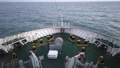 Ship's bow with all the winches, ropes and anchor moving through the waves 53608736
