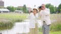 Senior couple travel camera couple image 53694023