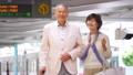 Senior couple travel station train tourist image photography cooperation: Keio Electric Railway Co., Ltd. 53695454