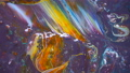 Art of acrylic color movement slow motion 53711395
