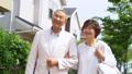 夫婦 シニア 散歩の動画 53723526