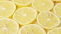 Juicy lemon slices, close shot. Rotative 53740313