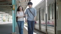 "Couple train photography cooperation ""Keio Electric Railway Co., Ltd."" 53764400"