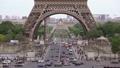 Traffic under the Eiffel Tower. Slow Motion 53814051