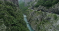 aerial view of the road in the canyon of the river Moraca 53918740