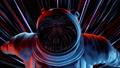 Epic Portrait of Hero Men Spaceman Wearing Helm in Space 53988672