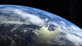 Earth. View from space. The camera approaches the 54056136