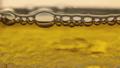 Close-up, rotating bursting yellow bubbles. 54056657