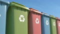 Colored garbage bins for environmental protection 54082965