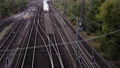 Timelapse Of High Speed Trains And Railroad Rails 54196058