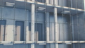 Beautiful Abstract Modern High Building Exterior Seamless. Glass, Metal and Concrete. Looped 3d 54204785