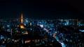 8K 도쿄 야경 타임 랩스 2019 롯폰기에서 바라 보는 대도시 원래 데이터 고화질 8K 촬영 FIX 54205733