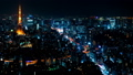 8K 도쿄 야경 타임 랩스 2019 롯폰기에서 바라 보는 대도시 원래 데이터 고화질 8K 촬영 좁은 54205736