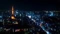 8K 도쿄 야경 타임 랩스 2019 롯폰기에서 바라 보는 대도시 원래 데이터 고화질 8K 촬영 축소 54205738