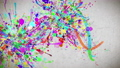 Paint stroke _ RGB _ Japanese paper texture background 54270362