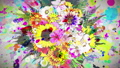 Flower _ paint stroke _ RGB _ Japanese paper texture background 54270368