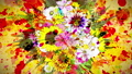 Flower _ paint stroke _ RGB _ Japanese paper texture background _ yellow 54270369