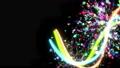 Paint Stroke Glow Black Background 54270370