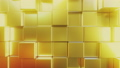 Golden square tiles. Loopable abstract 3D animation 54318848