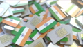 Multiple SIM cards with flag of India. Indian mobile telecommunications conceptual 3D animation 54352140