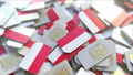 SIM cards with flag of Indonesia. Indonesian cellular network related conceptual 3D animation 54352141