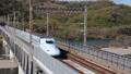 高速通過する山陽新幹線N700系みずほ 54491180