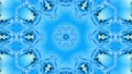 Abstract snowflake in motion of the blue lines of ribbons on a blue background. Kaleidoscopic effect 54557249