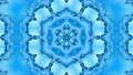 Abstract snowflake in motion of the blue lines of ribbons on a blue background. Kaleidoscopic effect 54557256