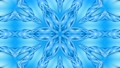 Abstract snowflake in motion of the blue lines of ribbons on a blue background. Kaleidoscopic effect 54557293