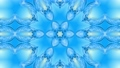 Abstract snowflake in motion of the blue lines of ribbons on a blue background. Kaleidoscopic effect 54557294