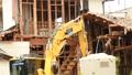 取り壊し 破壊 パワーシャベル 重機 現場 作業 工事 解体 54584933
