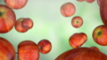 formation of DNA. DNA strands are assembled from red apples. FullHD 54585082
