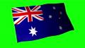 ธงชาติออสเตรเลียสีเขียวด้านหลังสำหรับองค์ประกอบหลักของสี 54587295